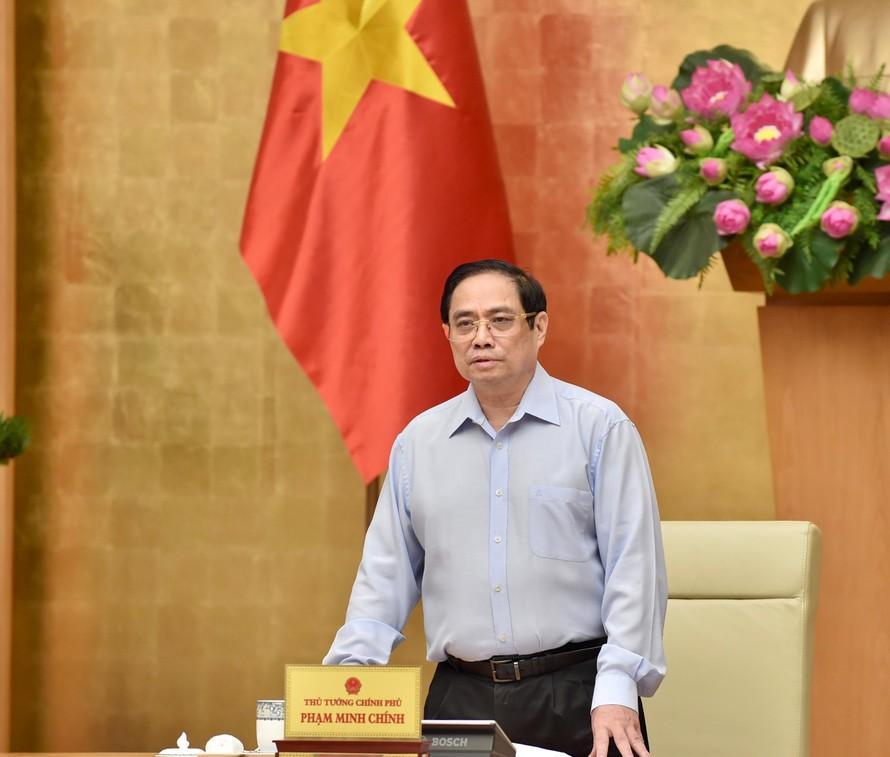 Thủ tướng Chính phủ Phạm Minh Chính phát biểu khai mạc Hội nghị. Ảnh: VGP/Nhật Bắc