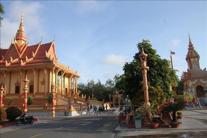 Chùa Xiêm Cán - điểm du lịch nổi tiếng của Bạc Liêu. Ảnh: Chanh Đa/TTXVN