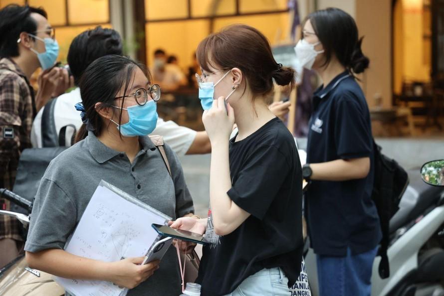 Thí sinh tham dự đợt 1 kỳ thi tốt nghiệp THPT năm 2021. Ảnh: Lê Phú/Báo Tin tức