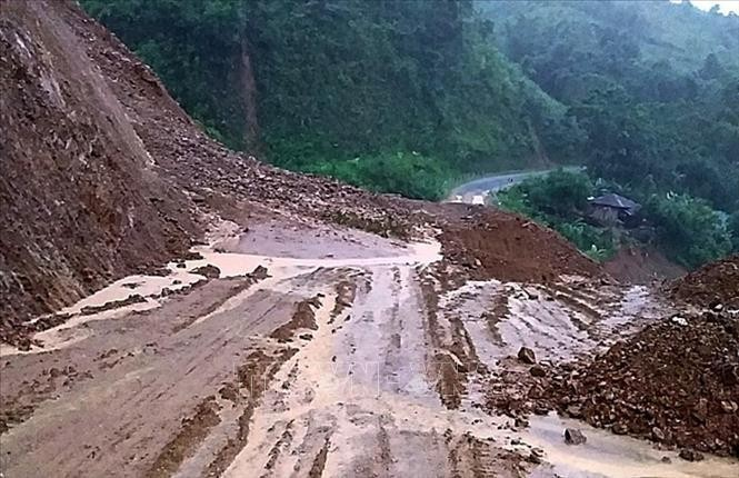 Nguy cơ cao xảy ra lũ quét và sạt lở đất, ngập lụt ở vùng trũng ở nhiều tỉnh miền núi khu vực Bắc Bộ. Ảnh minh họa: Việt Hoàng/TTXVN