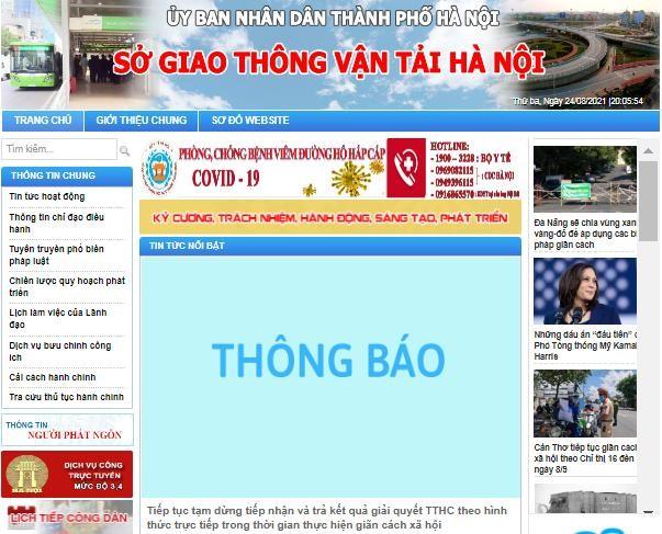 Các tổ chức, cá nhân, doanh nghiệp thực hiện khai báo, nộp hồ sơ trực tuyến tại địa chỉ: www.sogtvt.hanoi.gov.vn.