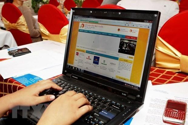 Hà Nội công bố 600 điểm bán hàng thiết yếu trực tuyến. Ảnh minh họa: TTXVN