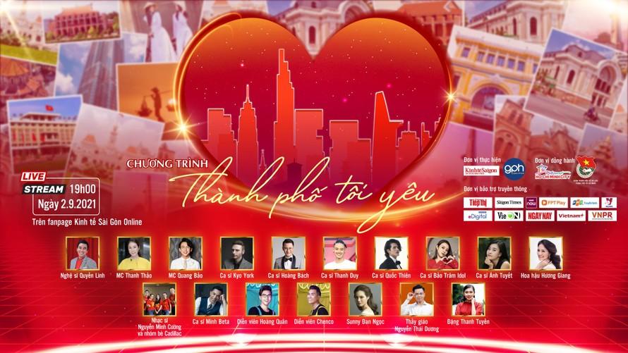 'Thành phố tôi yêu' - Đêm nhạc cổ vũ tinh thần người dân TPHCM và lực lượng tuyến đầu chống dịch