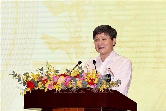 Phó Thủ tướng Chính phủ Lê Minh Khái là Tổ trưởng Tổ công tác đặc biệt của Thủ tướng Chính phủ về tháo gỡ khó khăn cho doanh nghiệp và người dân bị ảnh hưởng bởi dịch bệnh COVID-19. Ảnh: TTXVN.