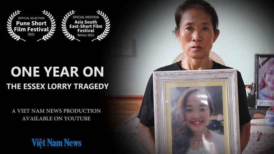 """Bộ phim """"Một năm sau thảm kịch xe tải Essex"""" được thực hiện tại huyện Yên Thành, tỉnh Nghệ An vào tháng 10/2020. Ảnh: VietnamNews."""