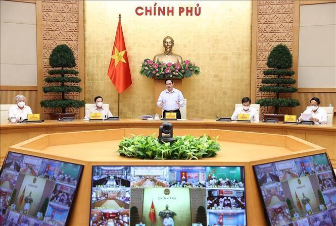 Thủ tướng Phạm Minh Chính, Trưởng Ban Chỉ đạo chủ trì làm việc với các địa phương và 9.043 xã, phường, thị trấn trên cả nước.