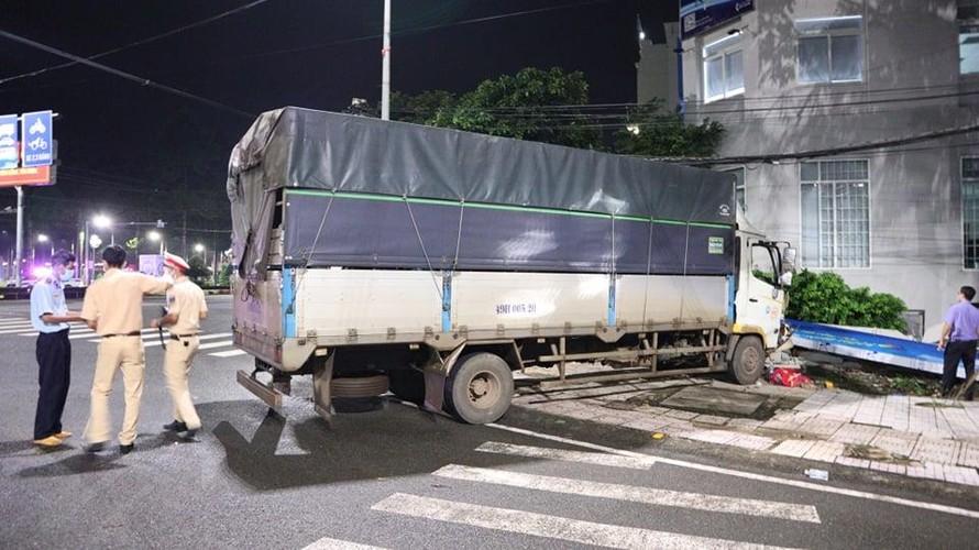 Một vụ tai nạn giao thông trên địa bàn thành phố Đồng Xoài, Bình Phước, ngày 10/9. Ảnh: Đậu Tất Thành/TTXVN