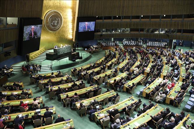 Hơn 100 nhà lãnh đạo và quan chức cấp cao trên toàn thế giới ngày 21/9/2021 đã tham dự trực tiếp phiên khai mạc Tuần lễ cấp cao kỳ họp Đại hội đồng Liên hợp quốc khóa 76. Ảnh: THX/TTXVN