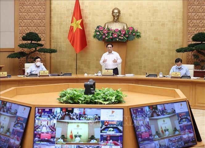 Thủ tướng Phạm Minh Chính chủ trì Phiên họp Chính phủ thường kỳ tháng 9. Ảnh: Dương Giang/TTXVN