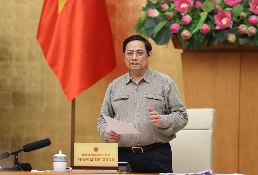 Thủ tướng Chính phủ Phạm Minh Chính gửi thư chúc mừng nhân Ngày Doanh nhân Việt Nam 13/10. Ảnh: Dương Giang/TTXVN