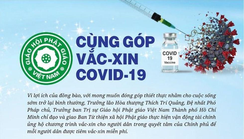 GHPGVN TPHCM kêu gọi Phật tử góp vắc xin chống COVID-19