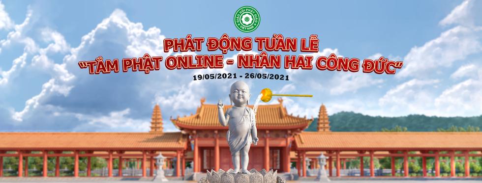 Dấu ấn tuần lễ 'Tắm Phật online – Nhân hai công đức'